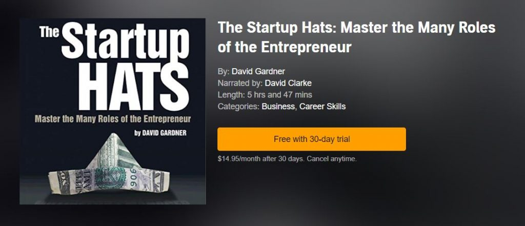 The Startup Hats: Master the Many Roles of the Entrepreneur Audiobook on Audible