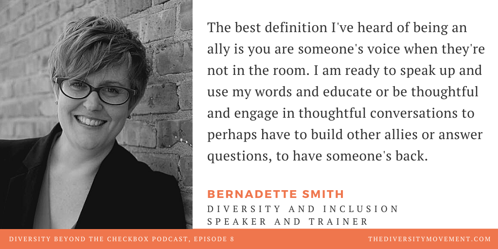 Bernadette Smith Diversity Beyond the Checkbox Podcast LGBTQ Ally