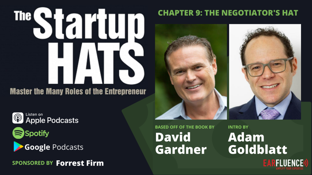 The Startup Hats by David Gardner Chapter 9 The Negotiator's Hat