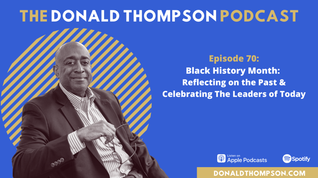 Donald Thompson on Black History Month